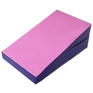 Costway Incline Gymnastics Mat Wedge Ramp Gym Skill Sports Exercise Aerobics Tumbling - Pink