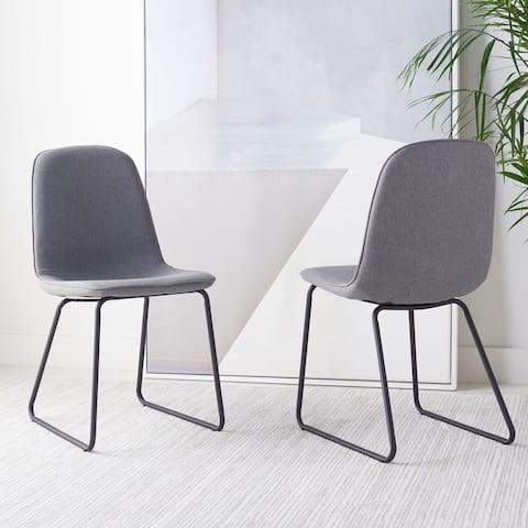 "SAFAVIEH Makalu Mid-Century Dining Room Chair (Set of 2) - 20.5"" W x 16.5"" L x 32.3"" H"
