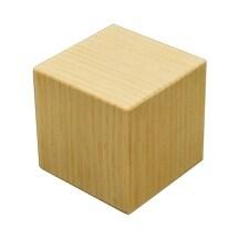 "1 Pc of 4"" Pine Memory Cube"