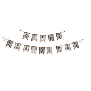 """Set of 2 """"Merry Christmas"""" Hanging Banner Decoration 70"""""""