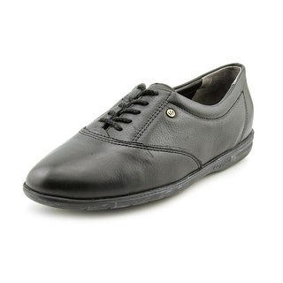 Easy Spirit Motion Women 4A Round Toe Leather Black Sneakers