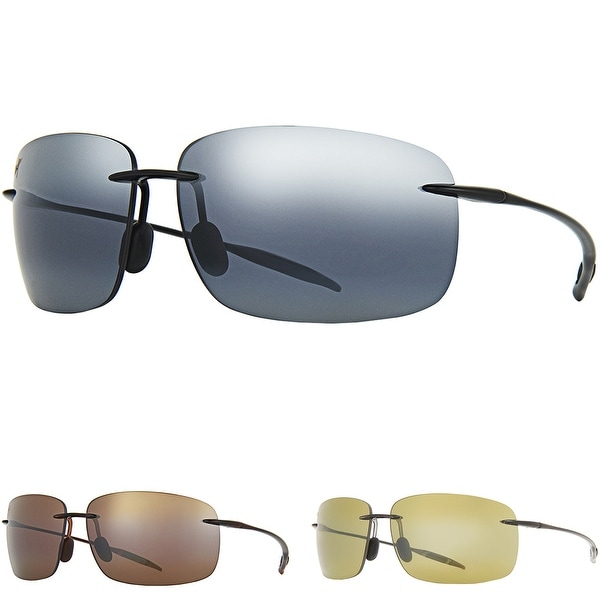 fd3764cef25 Shop Maui Jim Style 422 Breakwall Polarized Rimless Sunglasses - One size -  Free Shipping Today - Overstock - 19967924