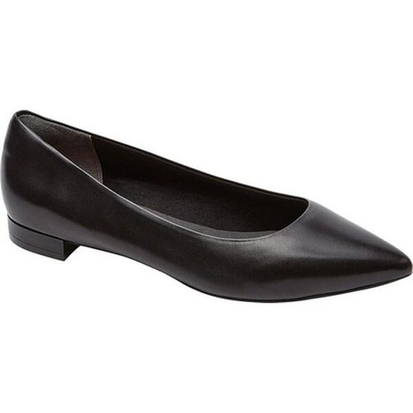best cheap 78218 59a1c Rockport Women  x27 s Total Motion Adelyn Ballet Flat Black Burn Calf