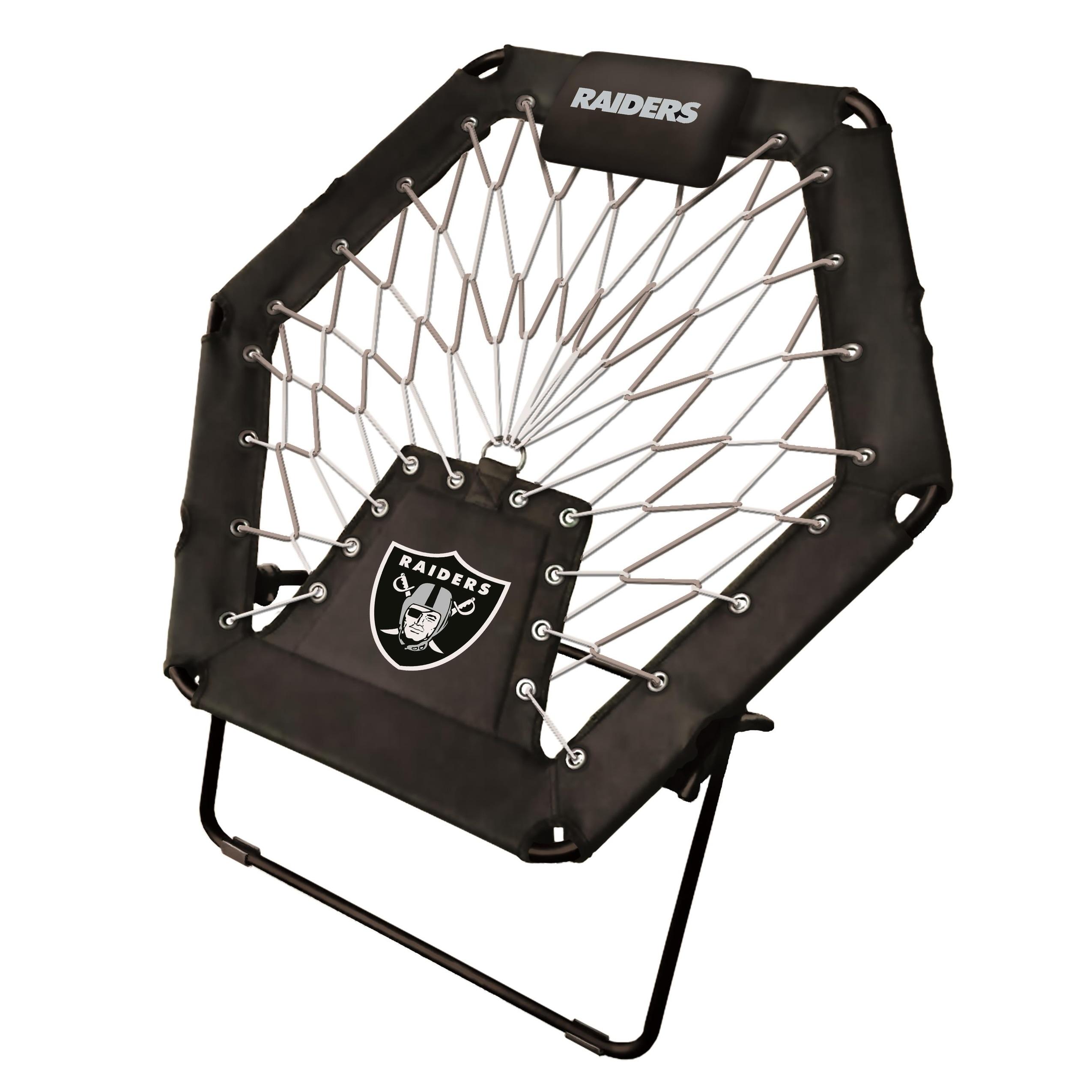 Amazing Premium Bungee Chair Nfl Oakland Raiders Machost Co Dining Chair Design Ideas Machostcouk