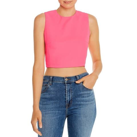 French Connection Womens Tank Top Cropped Sleeveless