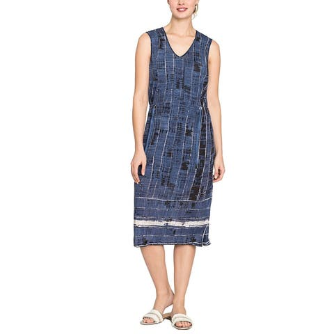 Nic+Zoe Petite Linen-Blend Shift Dress
