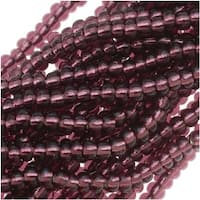 Czech Seed Beads 11/0 Amethyst Purple Silver Foil Lined (1 Hank)