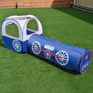 Costway 2 In 1 Kids Play Tent Tunnel House In/Outdoor Portable Foldable Children Gift