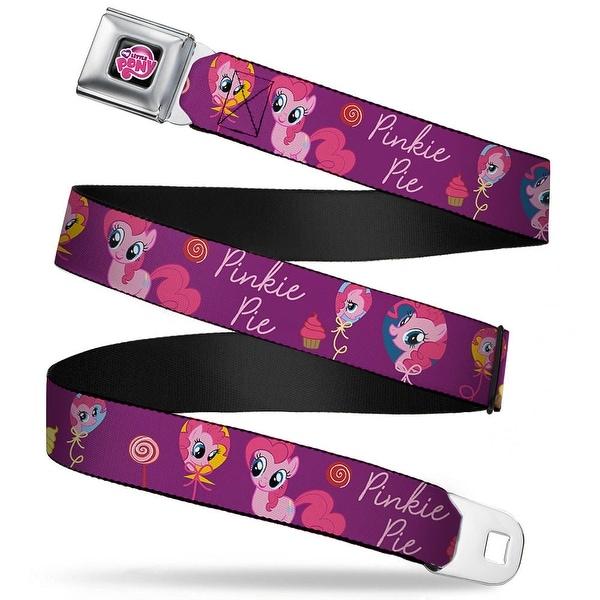 My Little Pony Logo Full Color Black Pink Pinkie Pie Balloons Webbing Seatbelt Belt