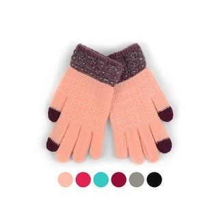 Link to Junior's Dual Tone Smartphone Accessible Winter Gloves Similar Items in Scarves & Wraps