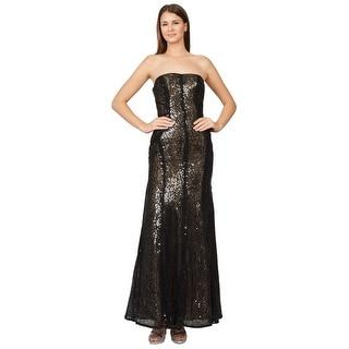 ML Monique Lhuillier Strapless Sequined Mermaid Evening Gown Dress - 2