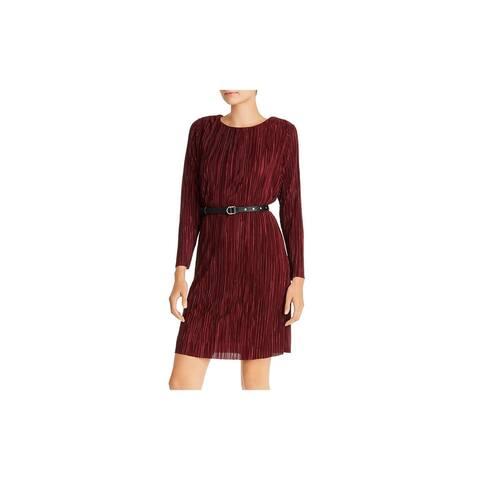 SAM EDELMAN Burgundy Long Sleeve Above The Knee Dress 2