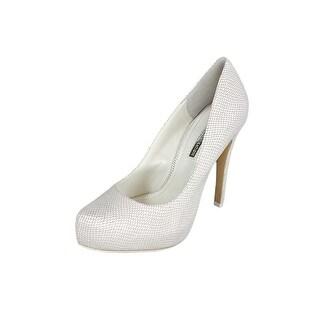BCBGeneration Parade Women Open Toe Leather White Platform Heel