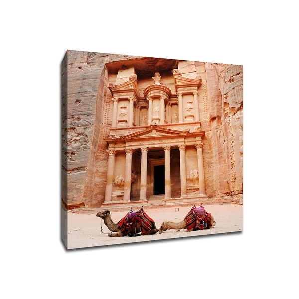 Petra Treasury - Jordan - Global Landmarks - 20x20 Gallery Wrapped Canvas