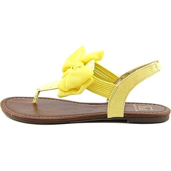 Material Girl Womens Swan Split Toe Beach T-Strap Sandals