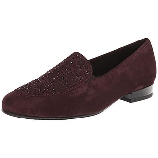 ARA Womens Kendall Suede Slip On Loafers