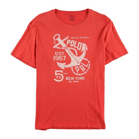 Ralph Lauren Mens Marine Outfitter Graphic T-Shirt, Red, Small