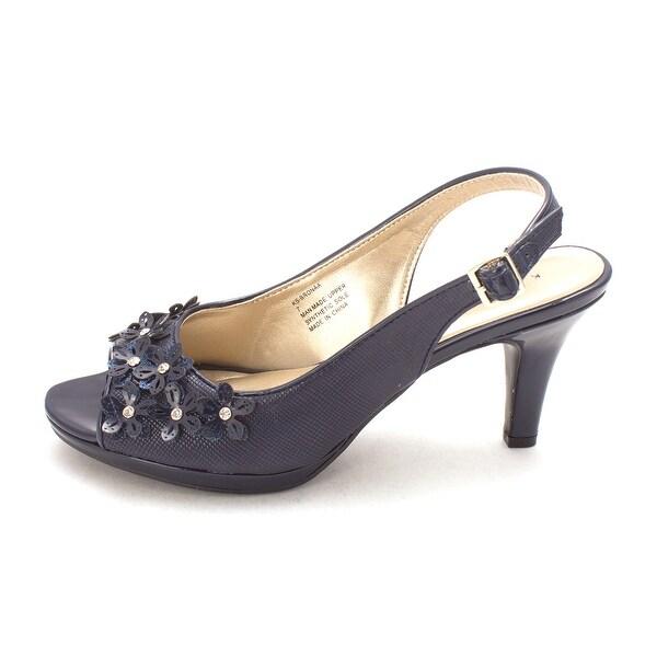 2f2d45c995 Shop Karen Scott Womens Bronaa Fabric Peep Toe SlingBack Classic ...