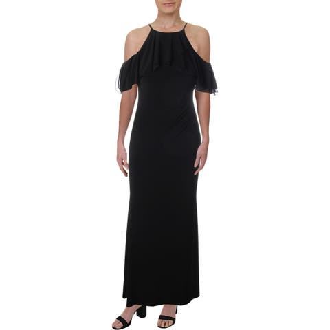 Lauren Ralph Lauren Womens Laredo Evening Dress Off-The-Shoulder Full-Length