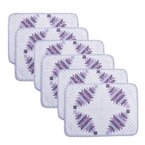 Country Living Cathedral Window 6-Piece Placemat Set - 13x19