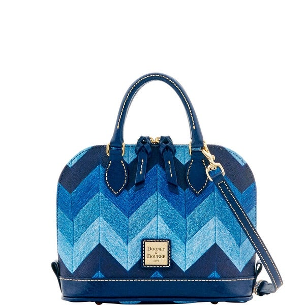 Dooney & Bourke Chevron Bitsy Bag (Introduced by Dooney & Bourke at $178 in Sep 2016) - DENIM