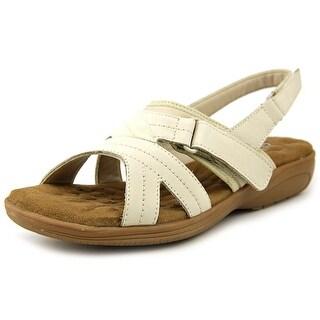 Walking Cradles Ciao Women N/S Open-Toe Leather Beige Slingback Sandal