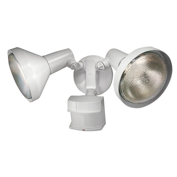 Heath Zenith HZ-5318-WH Metal Security Motion Spotlight, White, 120 Watts