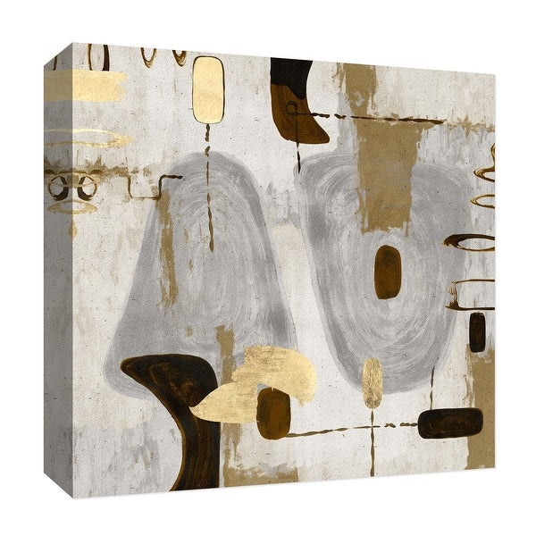 "PTM Images 9-126816 PTM Canvas Collection 12"" x 12"" - ""Golden Touches IV"" Giclee Abstract Art Print on Canvas"