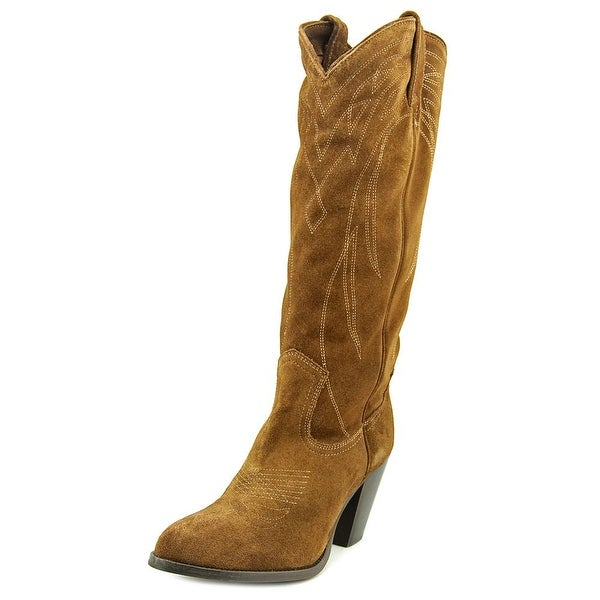 Frye Ilana Pull On Women Round Toe Suede Brown Western Boot