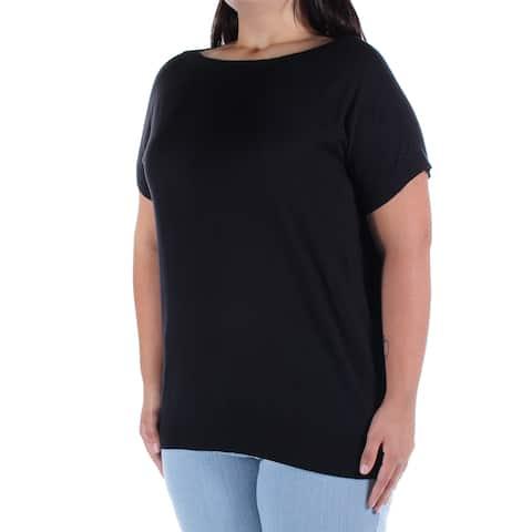 Ralph Lauren Womens Black Short Sleeve Boat Neck Sweater Size: XS