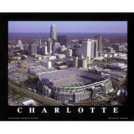 ''Charlotte, North Carolina - Panthers at Ericsson Stadium'' by Brad Geller Stadiums Art Print (22 x 28 in.)
