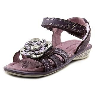 Beeko Rachel Open-Toe Leather Sport Sandal