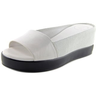French Connection Pepper Open Toe Leather Slides Sandal