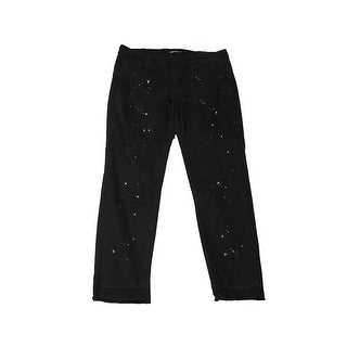 Dollhouse Juniors Black Paint Splatter Skinny Jeans 15
