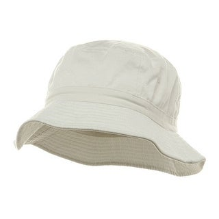 Pigment Dyed Bucket Hat-White W12S43E