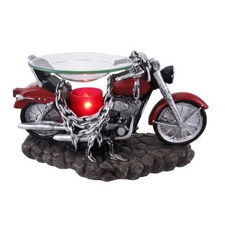 `Born to be Wild` Red Motorcycle Electric Oil Warmer