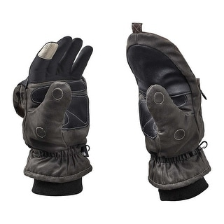 Legendary Whitetails Men's Arctic Tundra Pop Top Gloves - charcoal