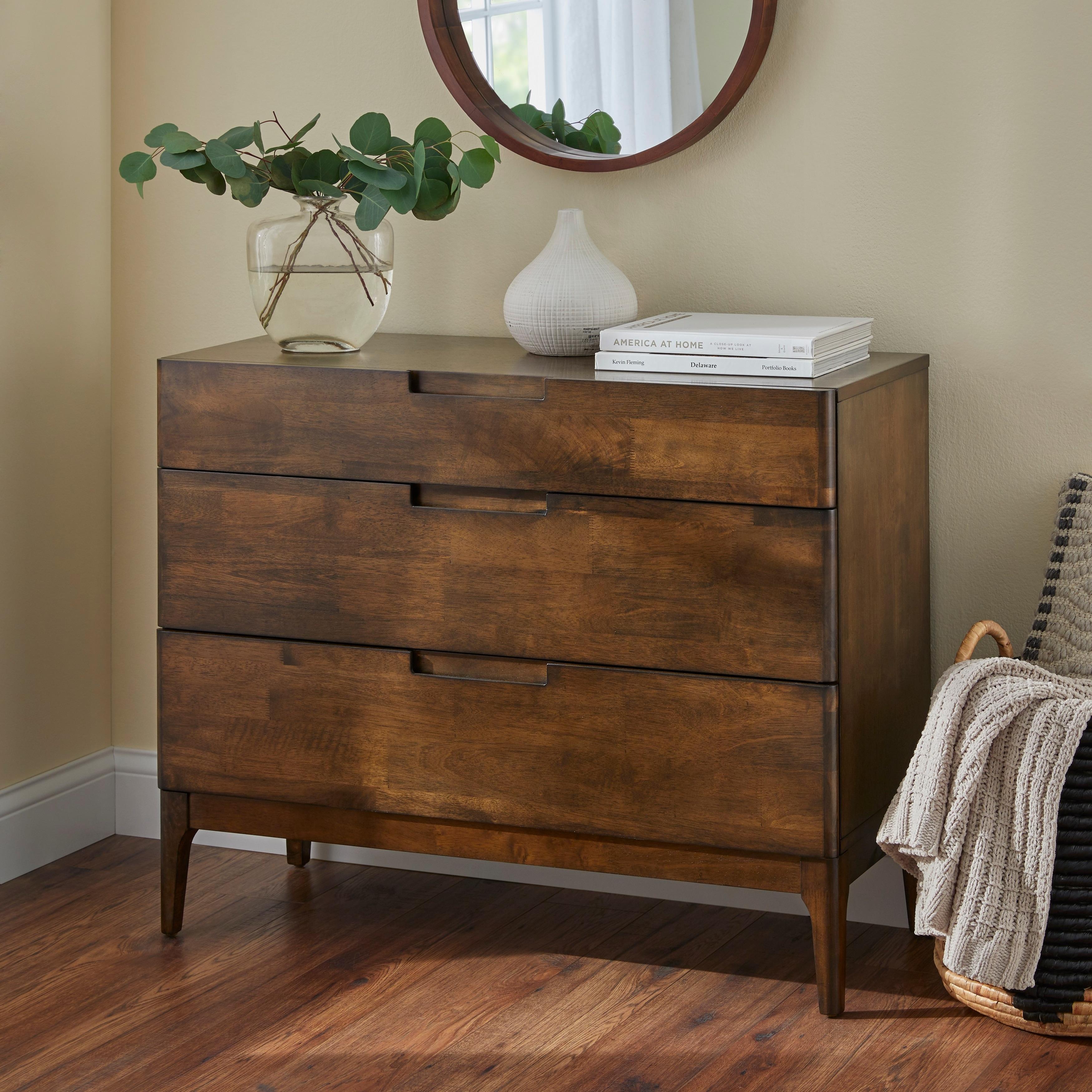 Lifestorey Lorraine Mid Century Modern 3 Drawer Dresser On Sale Overstock 28626283