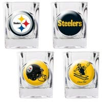 Great American Products Pittsburgh Steelers Shot Glass Set 4pc Collectors Shot Glass Set