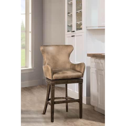 "Hillsdale Furniture Caydena Rustic Grey Swivel 26"" Counter Stool - 41H x 23W x 22.5D"
