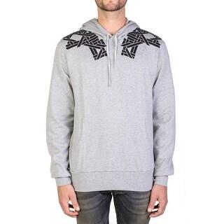 Dior Homme Geometric Print Hooded Sweatshirt Hoodie Grey