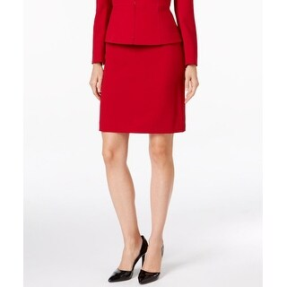 Tahari By ASL NEW Red Womens Size 12P Petite Straight Pencil Skirt