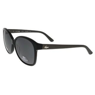 Lacoste L701/SP 001 Black Round sunglasses Sunglasses