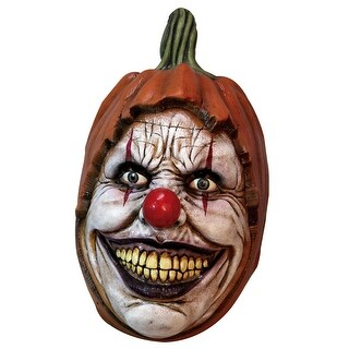 Adult Carving Clown Latex Mask - standard - one size