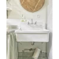 """Kohler K-12787 30"""" x 22"""" bracket-mounted scrub-up/plaster sink with 8"""" widespread faucet holes from the Gilford Collection"""