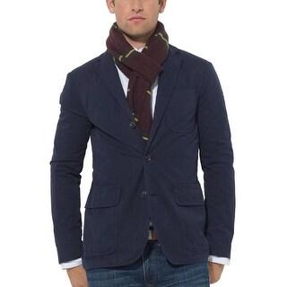 Polo Ralph Lauren Navy Blue Cotton Three Button Sportcoat 40 Long 40L