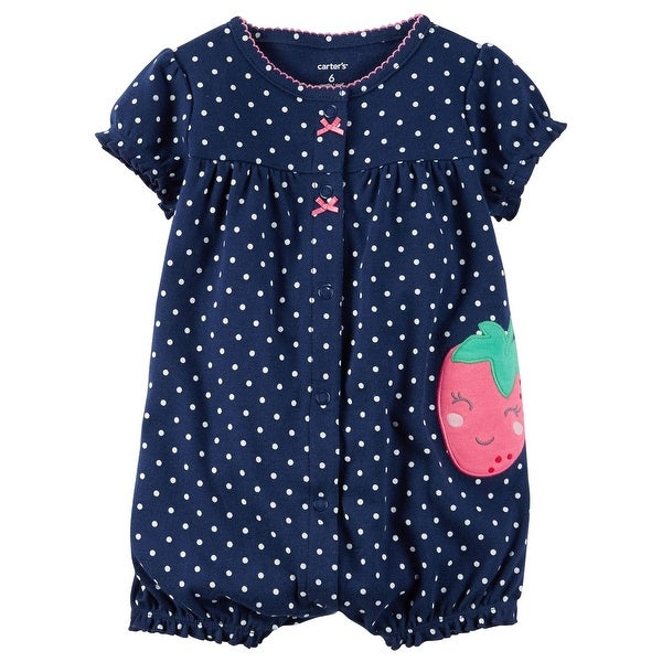 d028441c6b5 Shop Carter s Baby Girls  Strawberry Snap Up Romper 3 Months - Blue - Free  Shipping On Orders Over  45 - Overstock - 19527764