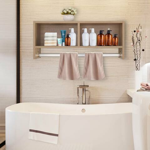Floating Shelf Wall Mount Home Cabinet Shelves Display White Bathroom