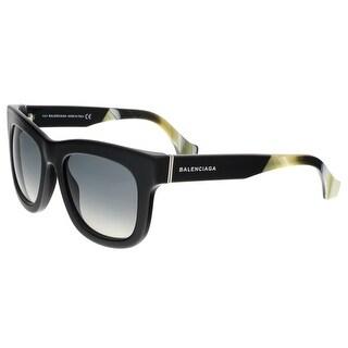 Balenciaga BA0009 01B Black Horn Square Sunglasses