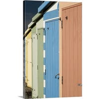 Premium Thick-Wrap Canvas entitled A Row of Beach Huts